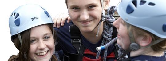 Scouts in Climbing Helmets